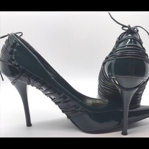 Dollhouse pumps 8.5 green patent leather